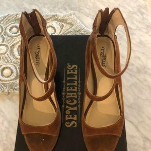 Seychelles Brown Suede Sandals